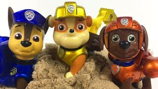 STORY WITH PAW PATROL TRYING TO PUT TOGETHER A TEAM PUZZLE  - CHASE RUBBLE ZUMA MARSHALL & SKYE