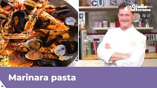MARINARA PASTA (Pasta with seafood: Italian recipe)