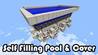 Self Filling Pool and Cover [Minecraft]
