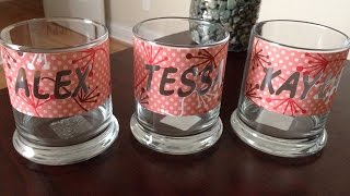 How To Create Glass Etching Using Silhouette Cameo - DIY Crafts Tutorial - Guidecentral