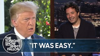 Trump Can't Stop Bragging About Cognitive Test Results | TheTonightShow