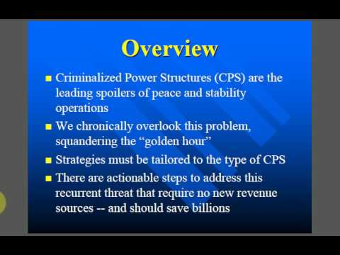 Criminalized Power Structures Book Launch