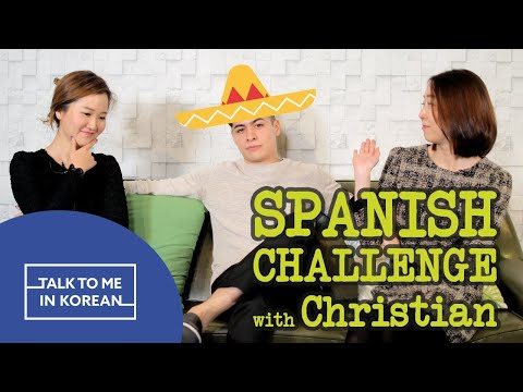 Spanish Language Challenge with Christian Burgos (크리스티안 부르고스와 함께 한 스페인어 챌린지) [TalkToMeInKorean]