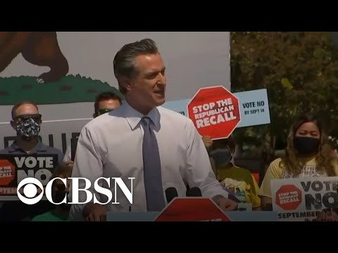California recall election down to final hours of campaigning