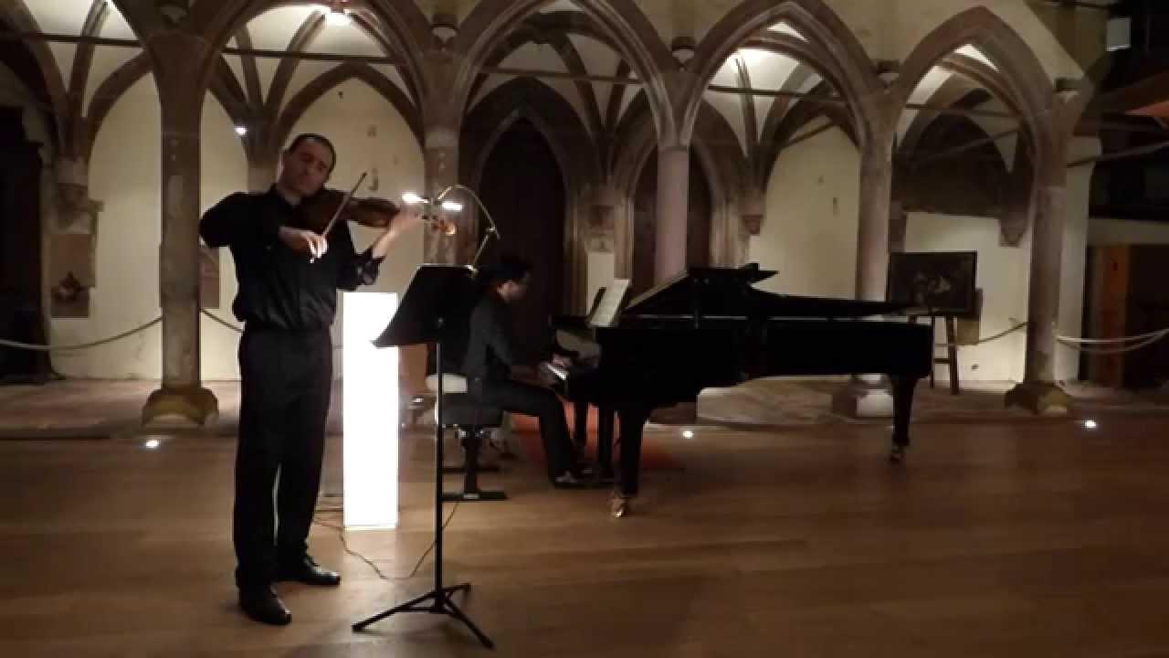 J S Bach - Sonate pour violon et piano BWV 1017 mvt 1