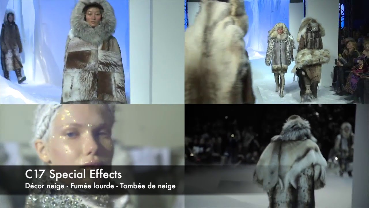 C17 Special Effects Defile Moncler Decor Neige Fumee Lourde