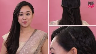 2 Quick And Pretty Hairstyles For Your Farewell | Hairstyles With Indian Wear - POPxo