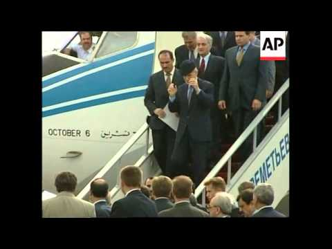 RUSSIA: TARIQ AZIZ AND SYRIAN PRESIDENT ASSAD ARRIVE IN MOSCOW