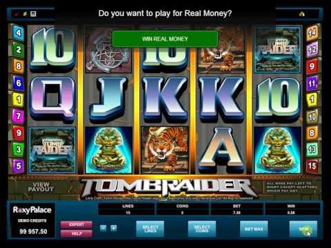 Игровой автомат Tomb Raider: реальный геймплей
