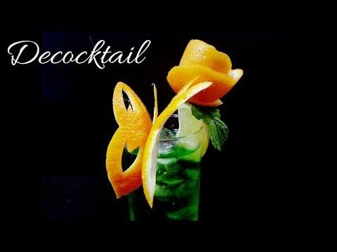 Decoraci n para c cteles con naranja mariposa con flor for Adornos para cocteles