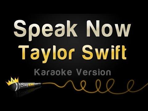 Taylor swift speak now karaoke version youtube