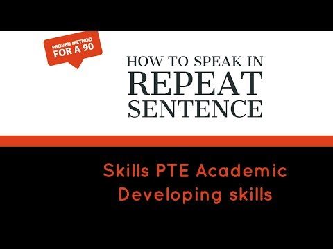 PTE SPEAKING : How to speak in REPEAT SENTENCE ( SUPER STRATEGY)