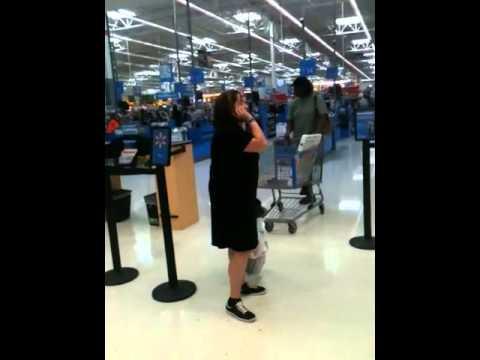 Crazy Woman in Walmart...Peachtree City Georgia!