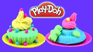 Play Doh How To Make Desserts Cupcakes Fun Toy Playset For Kids