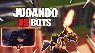 How to play against BOTS in FORTNITE? *Play the new mode* Gameplay