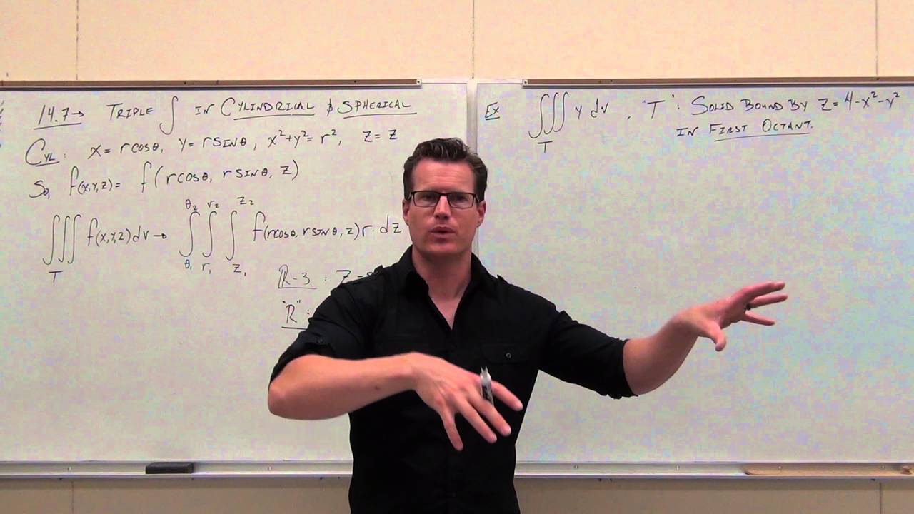 calculus 3 lecture 14 7 triple integrals over regions with