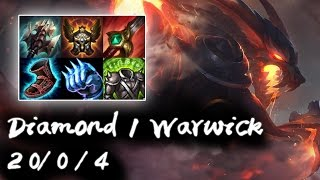 Diamond 1 Warwick Jungle vs Lee Sin | Flex Rank