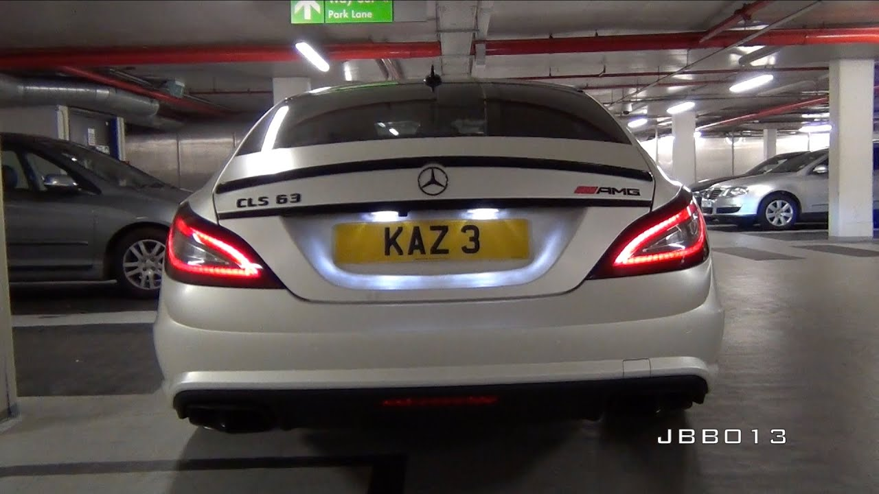 Mercedes cls63 amg w capristo exhaust huge revs and sounds for Parking at mercedes benz superdome