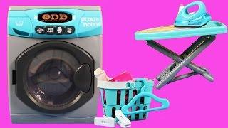 Oyuncak Çamaşır Makinesi ve Ütü tam Barbie Winx Oyuncak Bebekler için   Evcilik TV