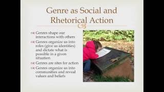 Genre Theory Lecture