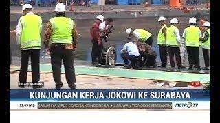 Jokowi Tinjau Kapal Selam Alugoro-405 di PT PAL Surabaya