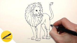 Как Нарисовать Льва поэтапно | Рисуем животных | Поэтапное рисование