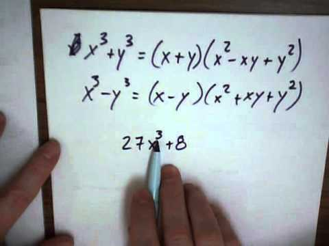 MAT 120 Factoring a third degree polynomial - YouTube