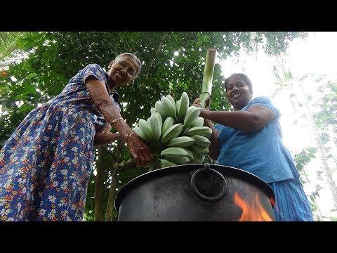 Ash Plantain (Cooking Banana) Cutlets prepared by Grandma and Daughter  Village Life