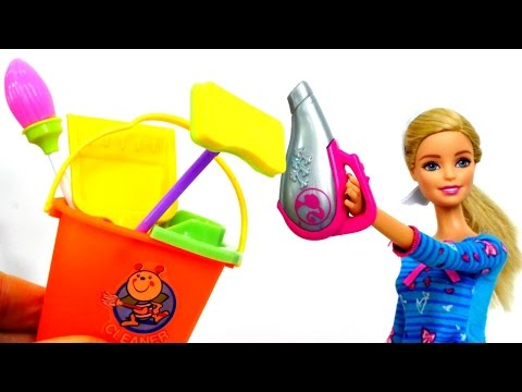#БАРБИ делает уборку в доме 🛋 Игры #Барби для девочек.