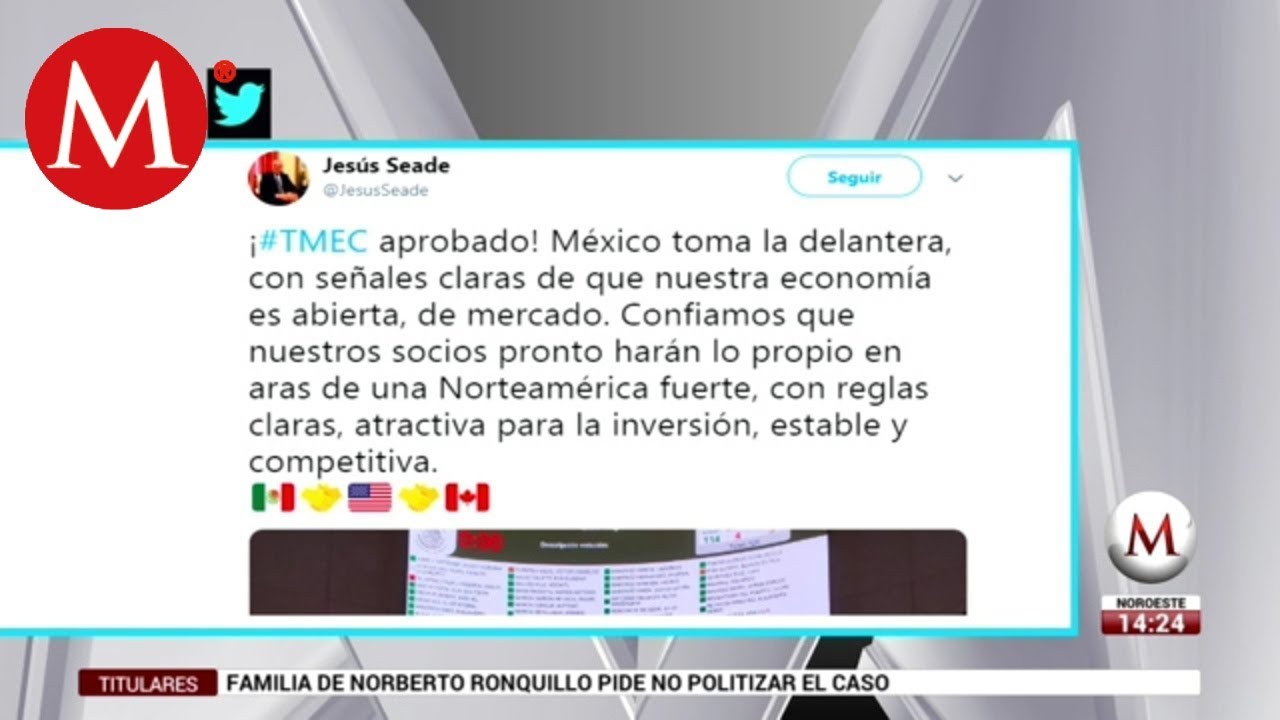 Aprobación de T-MEC, señal de que México es economía abierta: Seade