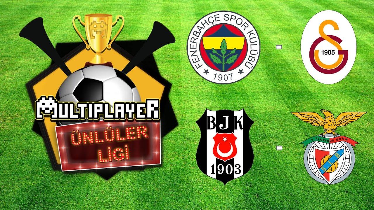 Fenerbahçe - Galatasaray ve Beşiktaş - Benfica / Multiplayer Ünlüler Ligi / Tivibu Spor
