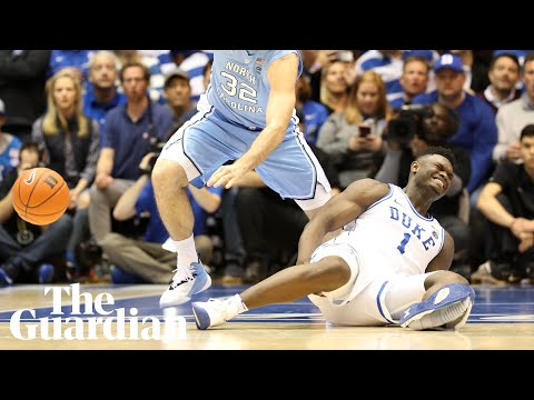 reputable site 5fa5c d6109 Zion Williamson s injury-by-Nike exposes college basketball s hypocrisy    Sport   The Guardian