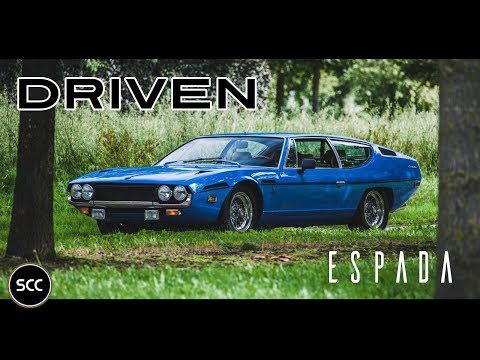 LAMBORGHINI 400 GT ESPADA 1972 - Full test drive in top gear - V12 Engine sound | SCC TV