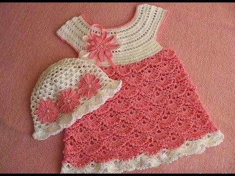 Learn How To Crochet Strawberry Shortcake Baby Dress 18