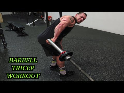 Intense 5 Minute Barbell Tricep Workout