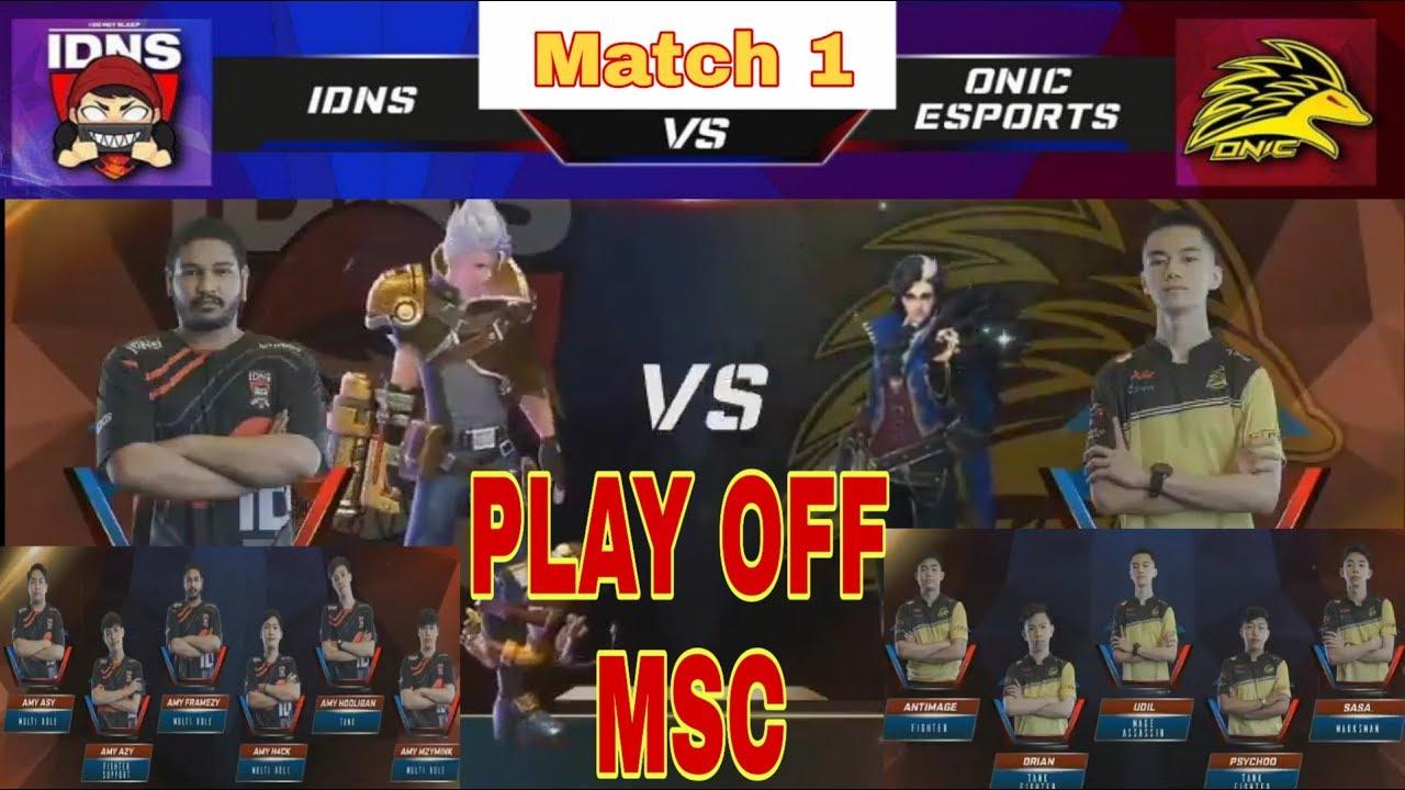 IDNS VS ONIC ESPORT MSC 2019 PLAY OFF | THAILAND VS INDONESIA MSC 2019 MATCH 1