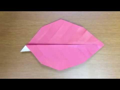 ハート 折り紙 折り紙 葉っぱ 折り方 : popmatx.com