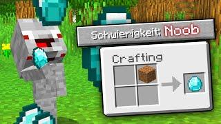 Alphastein WILL in Schwierigkeit Noob Welt Überleben !! Minecraft