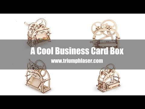 A cool business card box made by TRIUMPH laser cutting machine TR-1390