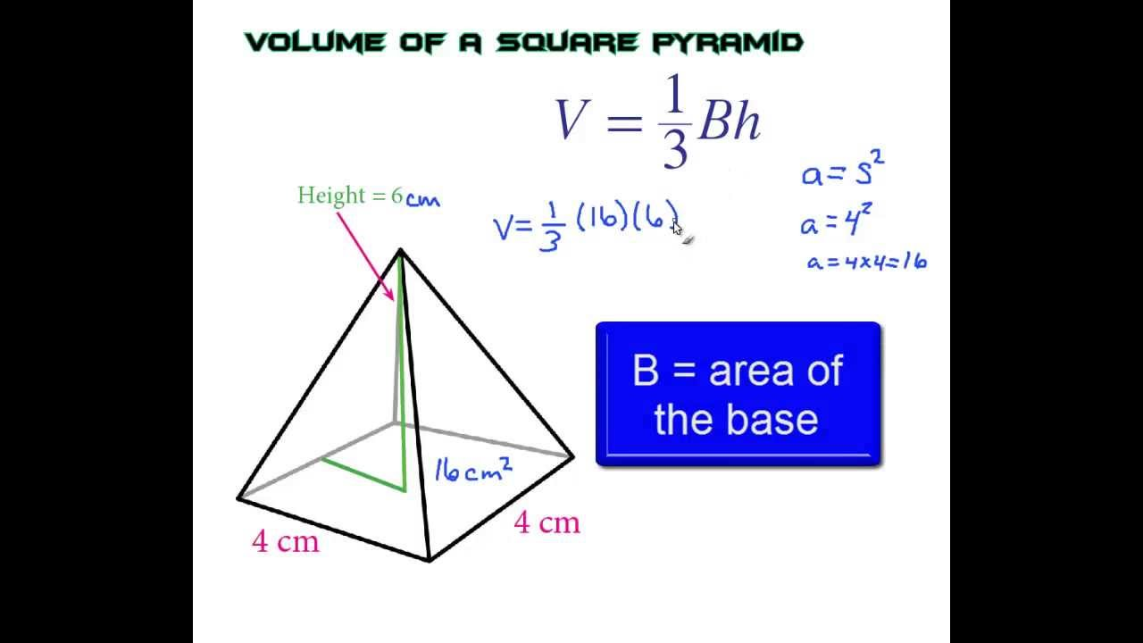 How to find the volume of a square pyramid the easy way youtube ccuart Choice Image