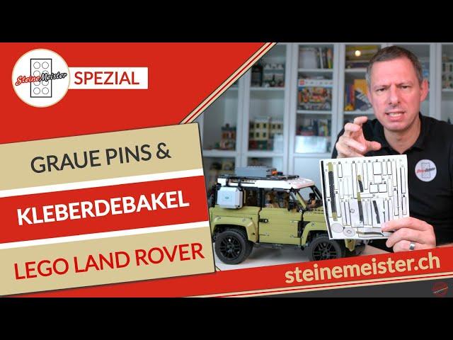 Lego Technics Land Rover Defender 42110: Warum diese Kleber und farbigen Pins? Mit Tipps für Pins.
