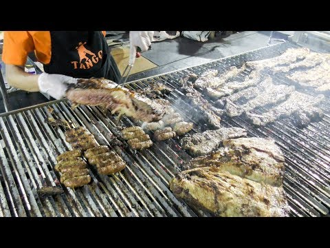 Street Food from Argentina. Big BBQ and Asado Tasted in Italy