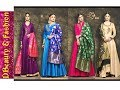 Style Long Suits With Brocade Silk Dupatta//Anarkali Suit With Banarsi Dupatta//