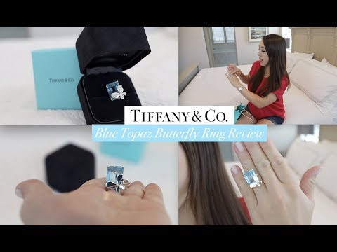 Tiffany & Co Blue Topaz Fashion Engagement Ring | Return to Tiffany Love Bug Collection