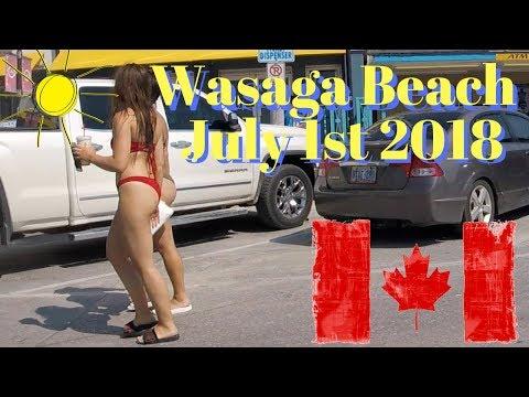 Wasaga Beach on Canada Day July 1st 2018