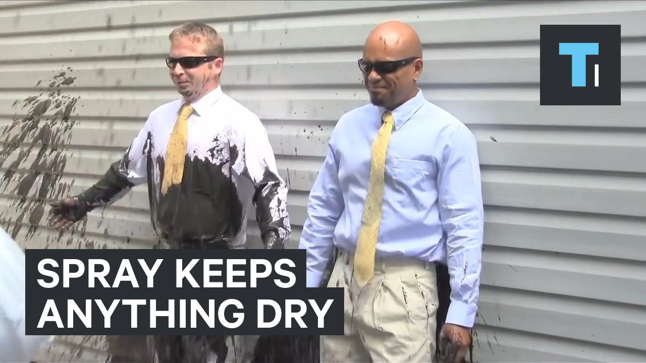 This amazing spray can keep anything dry