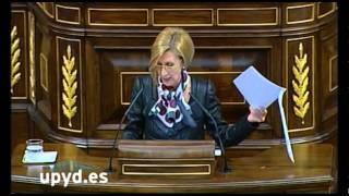 Rosa Díez UPyD Moción sobre los propósitos del Gobierno para ilegalizar Amaiur y Bildu 21-02-2012