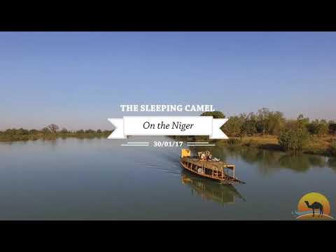 Sleeping camel cruise on the Niger River in bamako