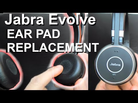 Replacing Ear Pads On Jabra Evolve Headphones Youtube