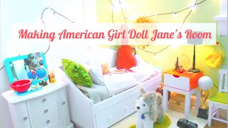 Making American Girl Doll Jane's Room + (giveaway-closed)